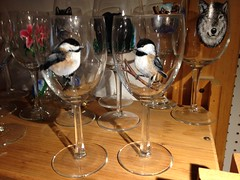 Chickadees on Glass