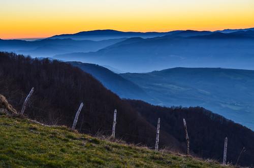 sunset italy panorama mountains landscape italia tramonto montagna marche montefeltro carpegna montecarpegna