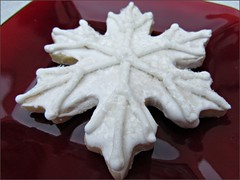 Snowflake sugar cookie, another view