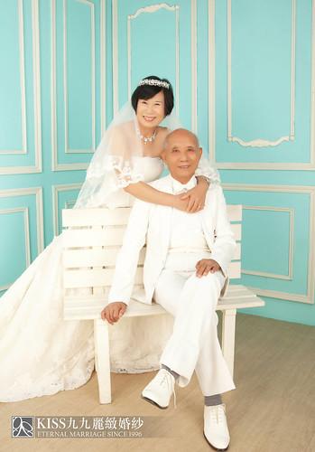 高雄週年照推薦Kiss九九麗緻婚紗 讓爸媽有個浪漫金婚週年 (1)