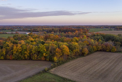 autumn fall farm colors bluehour drone inspire1pro dji harvested field delewarecounty ohiofoothills