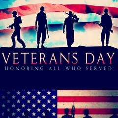 Veterans' Day = Thank You. God Bless all those who have served, those who currently serve and all family members who make sacrifices so all of us can enjoy freedom. We honor all today and Thank you!