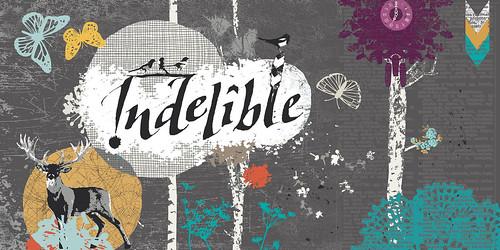 "indelible logo 6x3"""