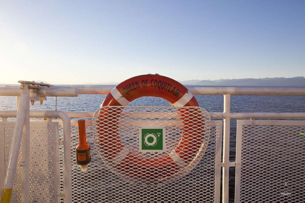 Lifebuoy on the ferry
