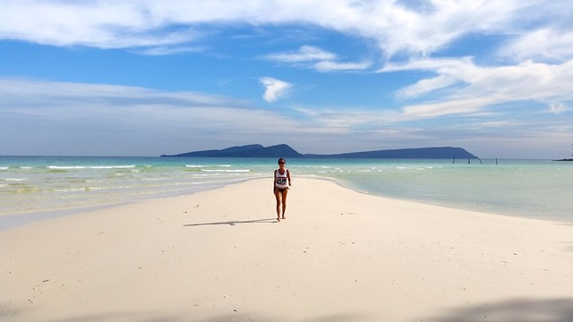 7. Take long walks along the white sandy beaches in Cambodia with Blue Osa Journeys