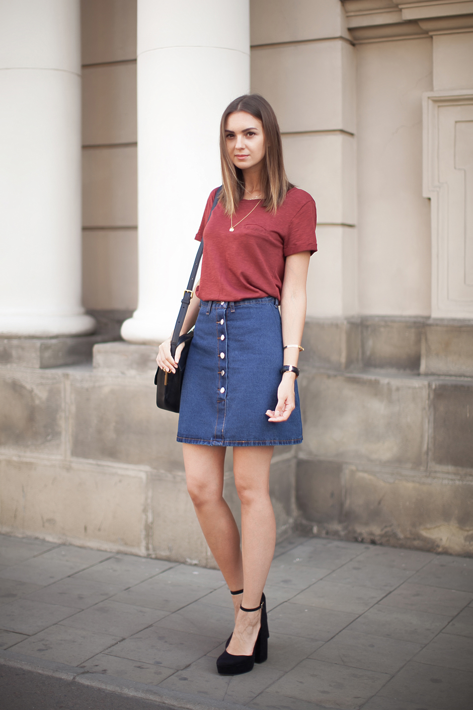 a-line-denim-skirt-outfit-ideas
