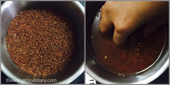 Sprouted Ragi powder for Babies - step 1