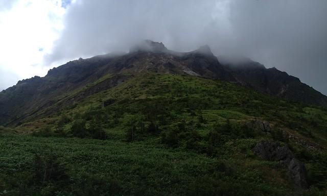 焼岳 中尾温泉ルート 北峰遠景 パノラマ