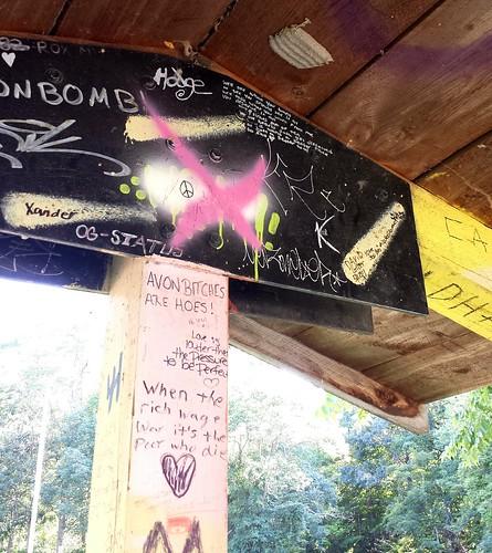 Graffiti at Papermill Falls Park