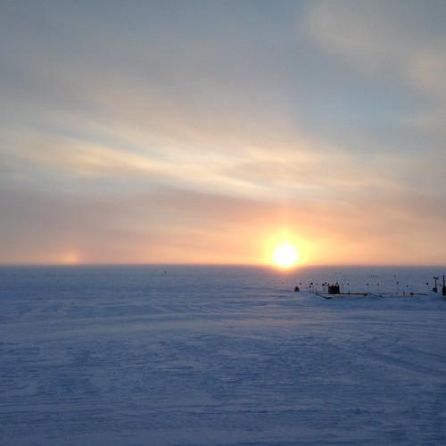 sunset greenland summit sundog summitstation