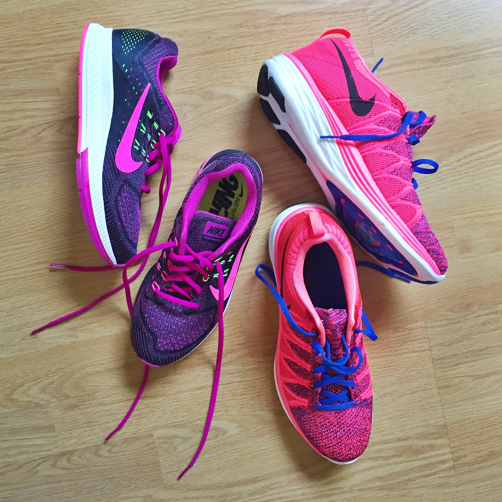 Nike air zoom structure 18 flyknit lunar 2