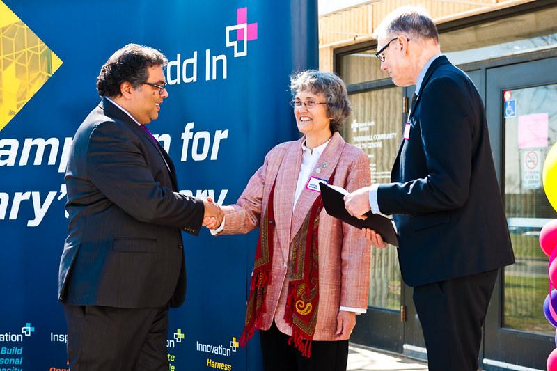 Mayor Naheed Nenshi, Judith Umbach and Bill Ptacek