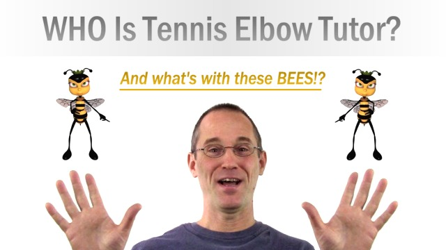 Tennis Elbow Tutor's Bio (My Crazy Bee-Sting Therapy Story)