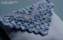 Lavender Hardanger sachet 3