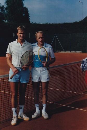 J. Strejček se svým učitelem a přítelem M. Příbramským