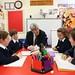 Education Minister John O'Dowd samples school life on Rathlin Island - 14 October 2015