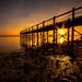 Sunset over Strangford lough by Chris-Henry