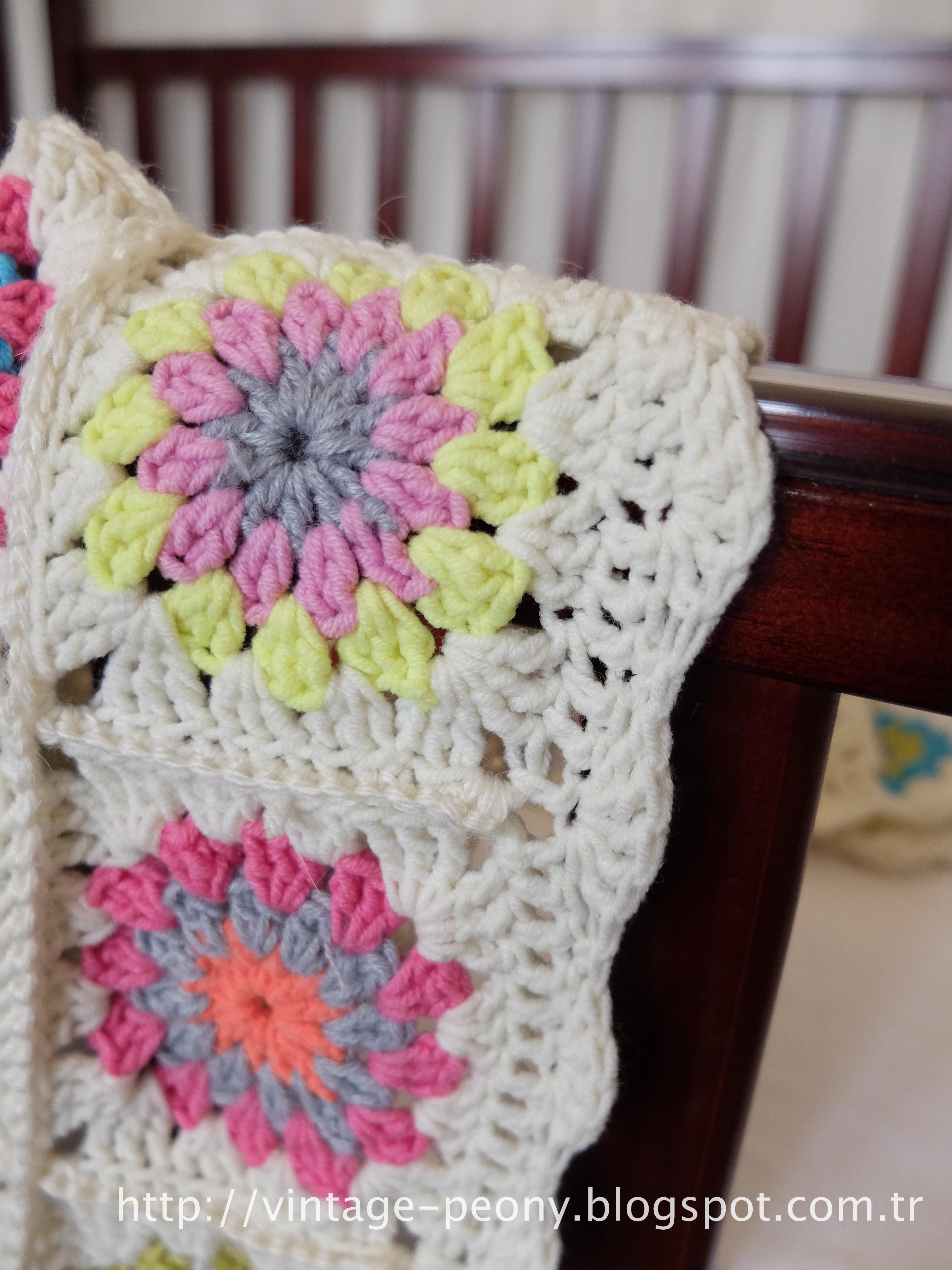 crochet granny squares afghan blanket