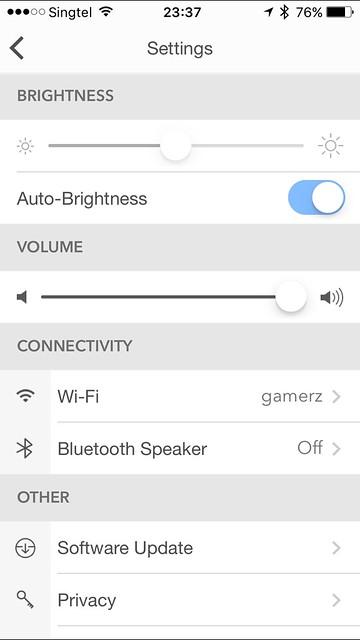 LaMetric iOS App - Settings