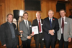 HRH The Duke of Gloucester with the winners of the 2015 Presidents' Award for Church Architecture