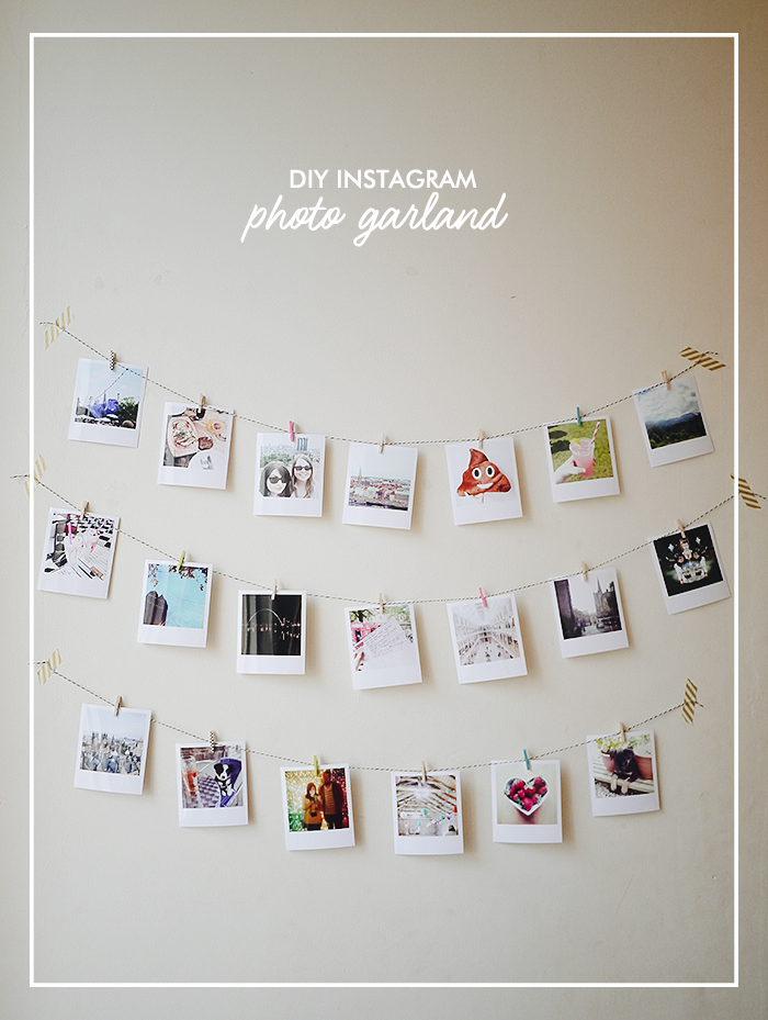 diy instagram photo garland elevatormusik. Black Bedroom Furniture Sets. Home Design Ideas