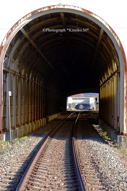 スノーシェッドのある風景ー滝ノ上駅