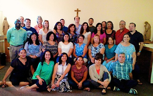 St Louis of France and Nativity school teachers participating in a workshop