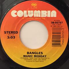 BANGLES:MANIC MONDAY(LABEL SIDE-A)