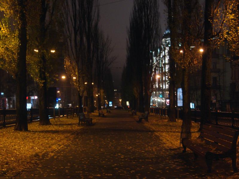 boulevard kiev autumn