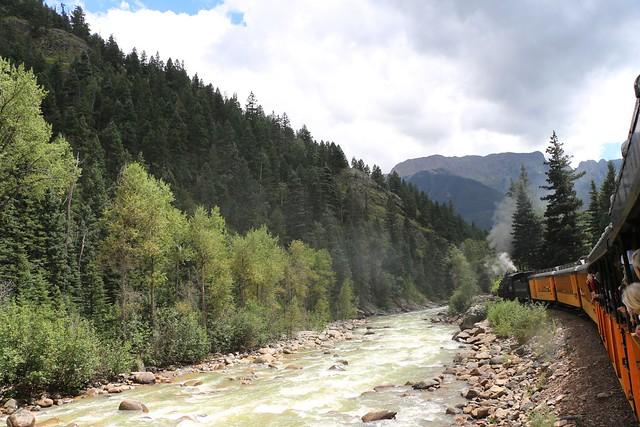 Durango & Silverton Steam Train along the Animas River