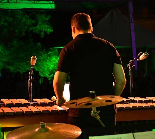 Marcelo Borba na marimba