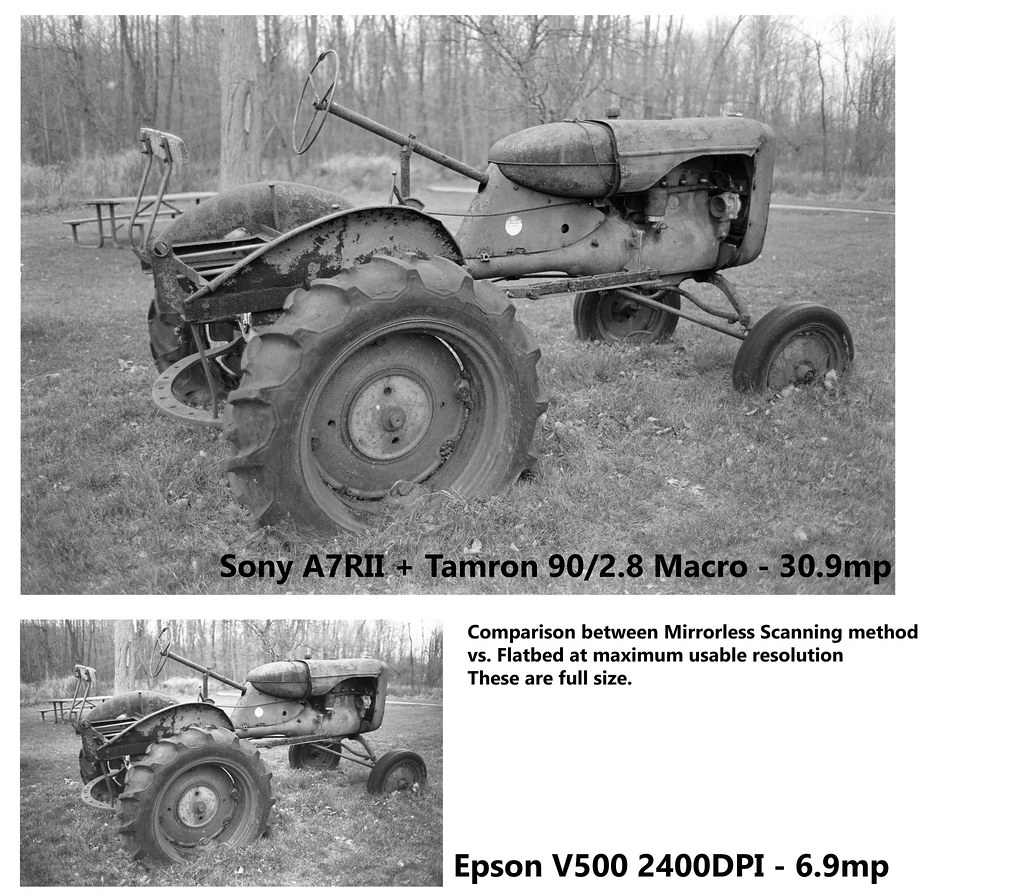 Mirrorless scanning vs Epson V500 - 35mm negative