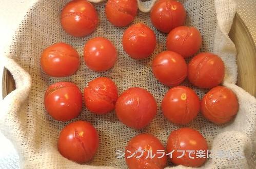 蒸し料理、トマト(調理後)