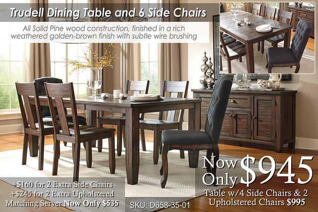 Trudell Dining Table & 6 Chairs