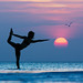Sunset yoga by ericpare