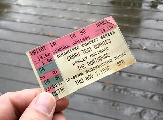 The Boathouse Concert Ticket (Norfolk venue '83-'03)