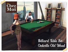 Billiard Old Wood Set CHEZ MOI