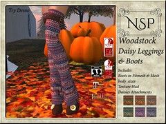 NSP Woodstock Daisy Leggings with Boot - V3