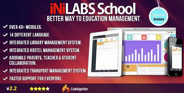 Inilabs v2.2 – School Management System Express