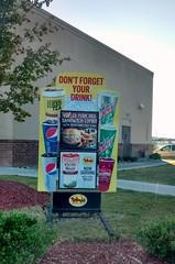 Sign At Bojangles Drive Thru In Lumberton, NC.