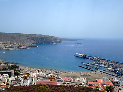 View of Los Cristianos from Chayofia