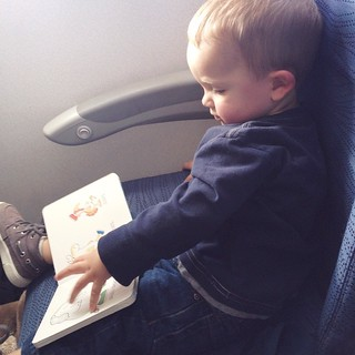 The killer 12 hour flight went better than I thought it would! Charlie had his own seat, and the kids were in heaven watching movies on their individual screens. It was still long and hard but I can't complain!