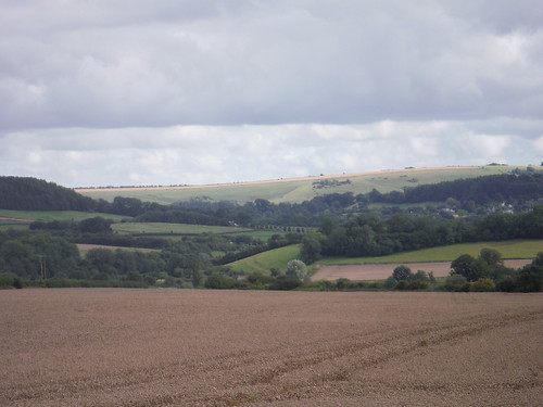 Castle Ditches Iron Age hillfort and Swallowcliffe Down