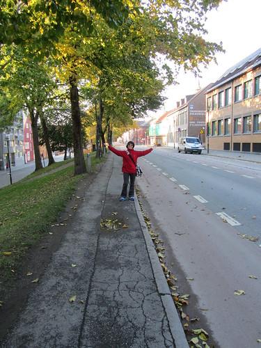 Manmely en un Trondheim vacio