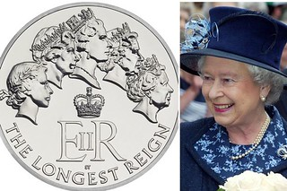 Commemorative-coin-features-the-five-pictures-of-the-Queen-that-have-featured-on-UK-coins