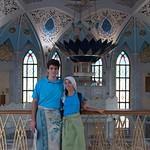 Dentro de la mezquita.