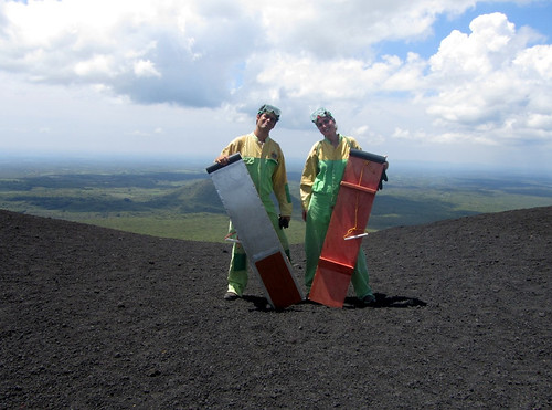 Ready to slide down the Cerro Negro