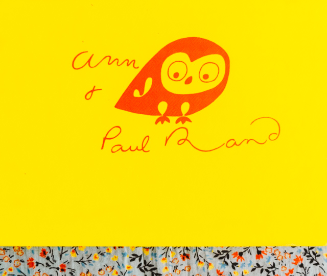 ann & paul rand - orange illustrated owl