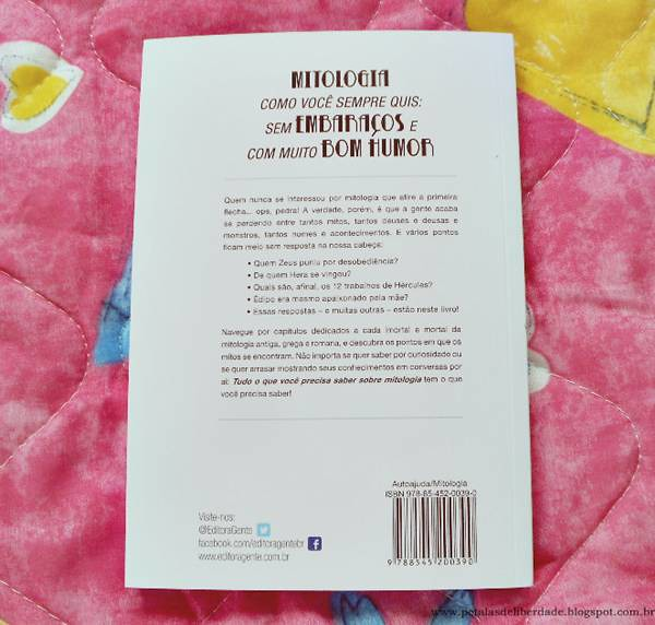 contracapa, Resenha, livro, Tudo o que você precisa saber sobre mitologia, Kathleen Sears, Gente, capa, opinião, Zeus, história, Poseidon, Hades