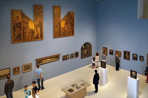 La salle consacrée aux maîtres anciens (Musée des cultures, Bâle)